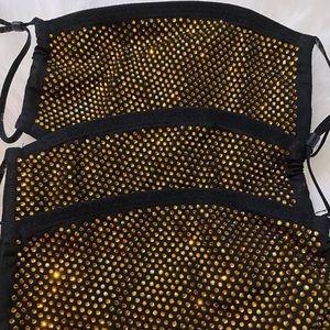 Gold bling masks